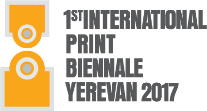Logo of the First International Print Biennale Yerevan 2017